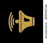 speaker volume sign icon  gold...