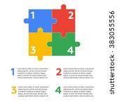 six jigsaw puzzle pieces | Shutterstock . vector #383055556