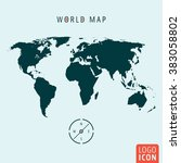 world map icon. world map with...
