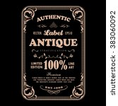 antique frame vintage badge... | Shutterstock .eps vector #383060092
