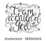 vector religions lettering   i... | Shutterstock .eps vector #383063656