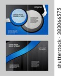 brochure design two pages a4... | Shutterstock .eps vector #383066575