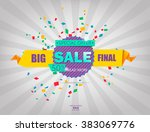 super sale poster  banner. big... | Shutterstock .eps vector #383069776
