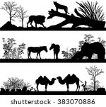 vector set of illustration with ... | Shutterstock .eps vector #383070886