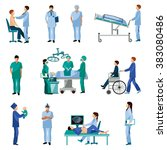 medical professional people... | Shutterstock . vector #383080486