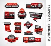 black friday discounts set | Shutterstock . vector #383082988