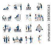 business training set | Shutterstock . vector #383083162