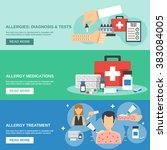 allergy banner set | Shutterstock . vector #383084005