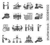 management icons set | Shutterstock . vector #383084032