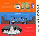 drug banners set  | Shutterstock . vector #383087656