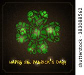 st. patricks day label. vector... | Shutterstock .eps vector #383088562