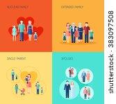 set of 2x2 design family | Shutterstock . vector #383097508
