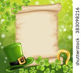 st.patrick's day background... | Shutterstock . vector #383098216