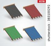 set of icons demonstration...   Shutterstock .eps vector #383100292