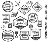 retro car label black set | Shutterstock . vector #383101282