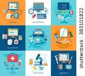 workspace concept set | Shutterstock . vector #383101822