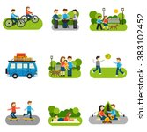 flat icon outing | Shutterstock . vector #383102452