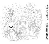 puppy illustration | Shutterstock .eps vector #383106112