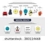 mental health flat line icon... | Shutterstock .eps vector #383114668