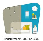 home house flat apartment room... | Shutterstock .eps vector #383123956