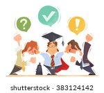 lawyer trying to resolve... | Shutterstock .eps vector #383124142