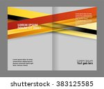 brochure template  | Shutterstock .eps vector #383125585