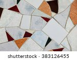 old wall ceramic tiles patterns ... | Shutterstock . vector #383126455