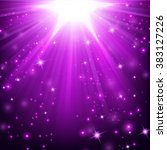 Violet Lights Shining With...
