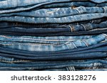Stack Of Jeans  Background ...