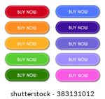 set of 'buy now' buttons | Shutterstock .eps vector #383131012