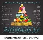 mediterranean diet image | Shutterstock .eps vector #383140492