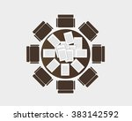 round table meeting. vector | Shutterstock .eps vector #383142592