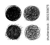 set of scribble hand drawn... | Shutterstock . vector #383150875