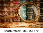 ancient old books and... | Shutterstock . vector #383151472