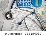 health insurance application... | Shutterstock . vector #383154082