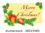vector christmas card for design | Shutterstock .eps vector #38315485