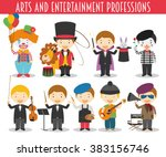 vector set of arts and... | Shutterstock .eps vector #383156746