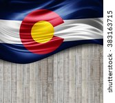 colorado of silk with copyspace ... | Shutterstock . vector #383163715