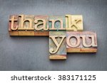 thank you phrase in vintage... | Shutterstock . vector #383171125