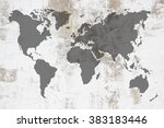 dirty white concrete and cement ... | Shutterstock . vector #383183446