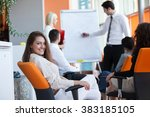 business people corporate... | Shutterstock . vector #383185105