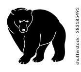 black silhouette of a bear   Shutterstock .eps vector #383185492