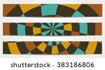 set of 3 isolated banners in...
