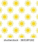 sun pattern | Shutterstock .eps vector #383189182