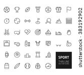sport outline icons for web and ... | Shutterstock . vector #383192902
