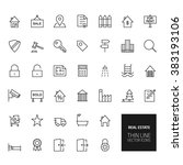 real estate outline icons for... | Shutterstock . vector #383193106