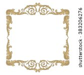 vintage baroque frame scroll... | Shutterstock .eps vector #383206276