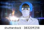 female octor with futuristic... | Shutterstock . vector #383209258