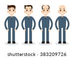 stages of hair loss | Shutterstock .eps vector #383209726