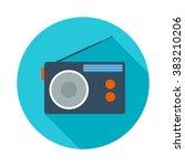 radio flat icon | Shutterstock .eps vector #383210206